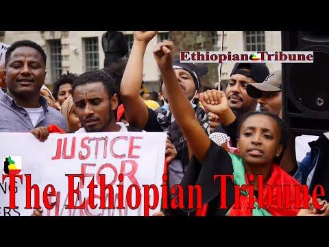 The Ethiopian Tribune: 3rd Of July 2020  Protest in UK, London, demanding justice for Hachalu