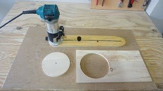 Adjustable Circle Cutting Jig For Trim Router - Daire Kesme Kılavuzu