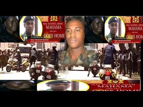 CAPTAIN MAXWELL ADAMS MAHAMA LAYING IN STATE.Military, Family and Country Mourn Him