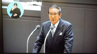 東京都知事を辞職するにあたってのあいさつ 平成24年10月31日.