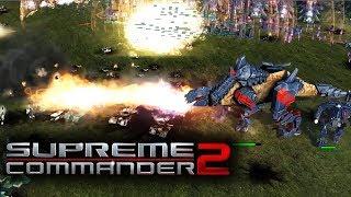 Supreme Commander 2 Cybranasaurus Rex Army FFA Multiplayer Gameplay