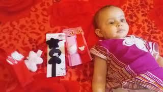 يوميات أريج : مشتريات أطفال يوم قبل العيد مشتريات بنات هدا ما اشترته أريج طفلة مدللة