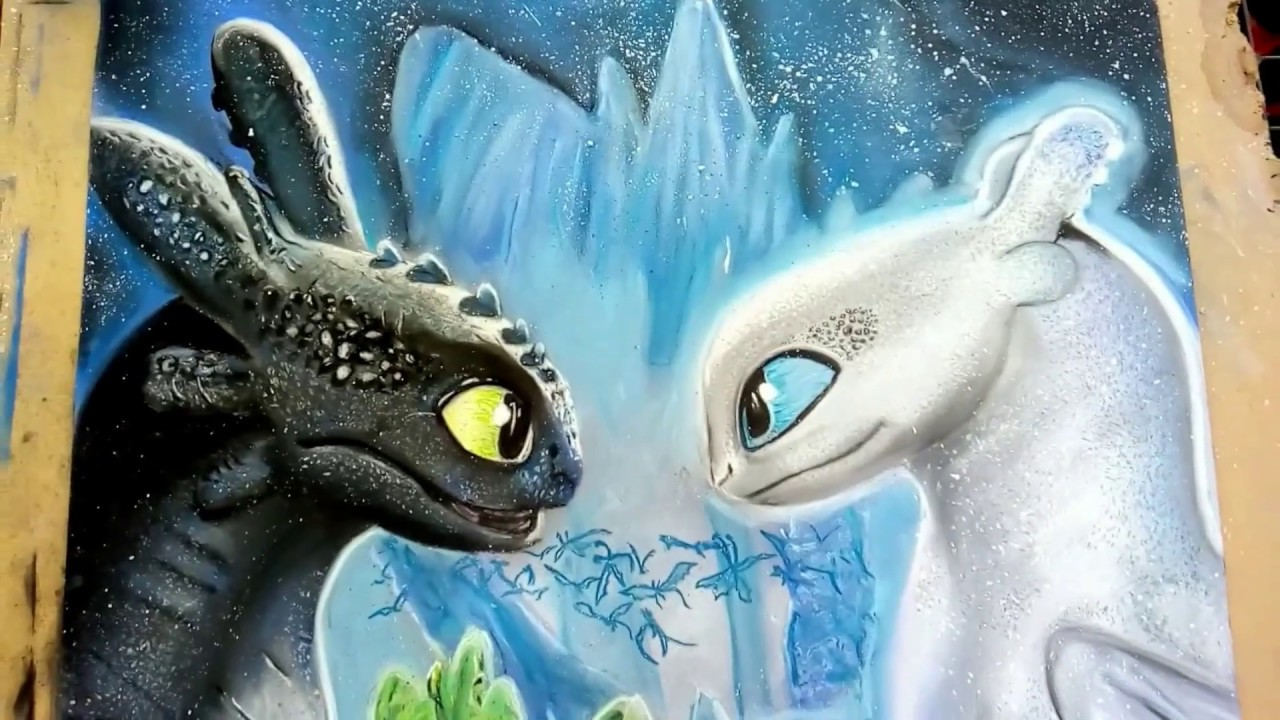 Chimuelo Y Furia Luminosa Toothless And Light Fury Httyd3speed