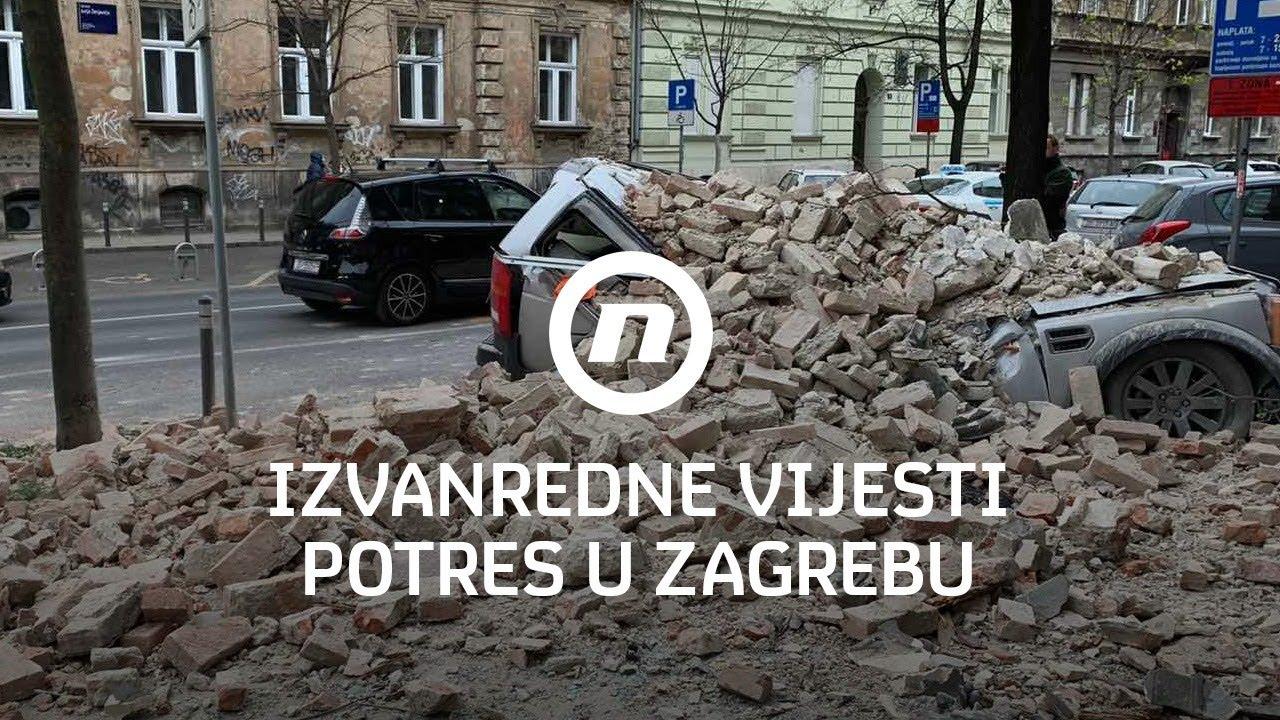 Izvanredne Vijesti Nove Tv Potres U Zagrebu 22 3 2020 Youtube