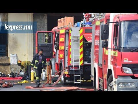 Incendie à Shoprite: briefing avec la SMF et les pompiers