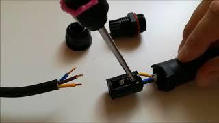 Vodotěsná kabelova spojka