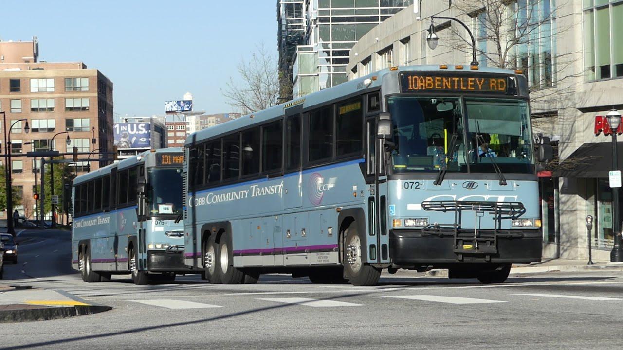 cct/grta: 2004/06 mci d4500 d4500cl route 10a 101 & 431 buses #6072