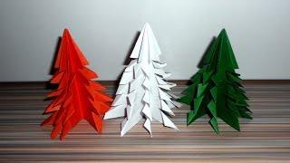 Елка из бумаги своими руками. Оригами