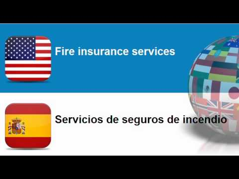 Learn Spanish vocabulary #Topic = Insurance services