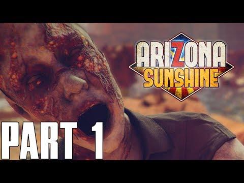 GOD HELP US   ARIZONA SUNSHINE PSVR - Part 1 COOP Lets Play AIM CONTROLLER (PSVR PS4 HD)