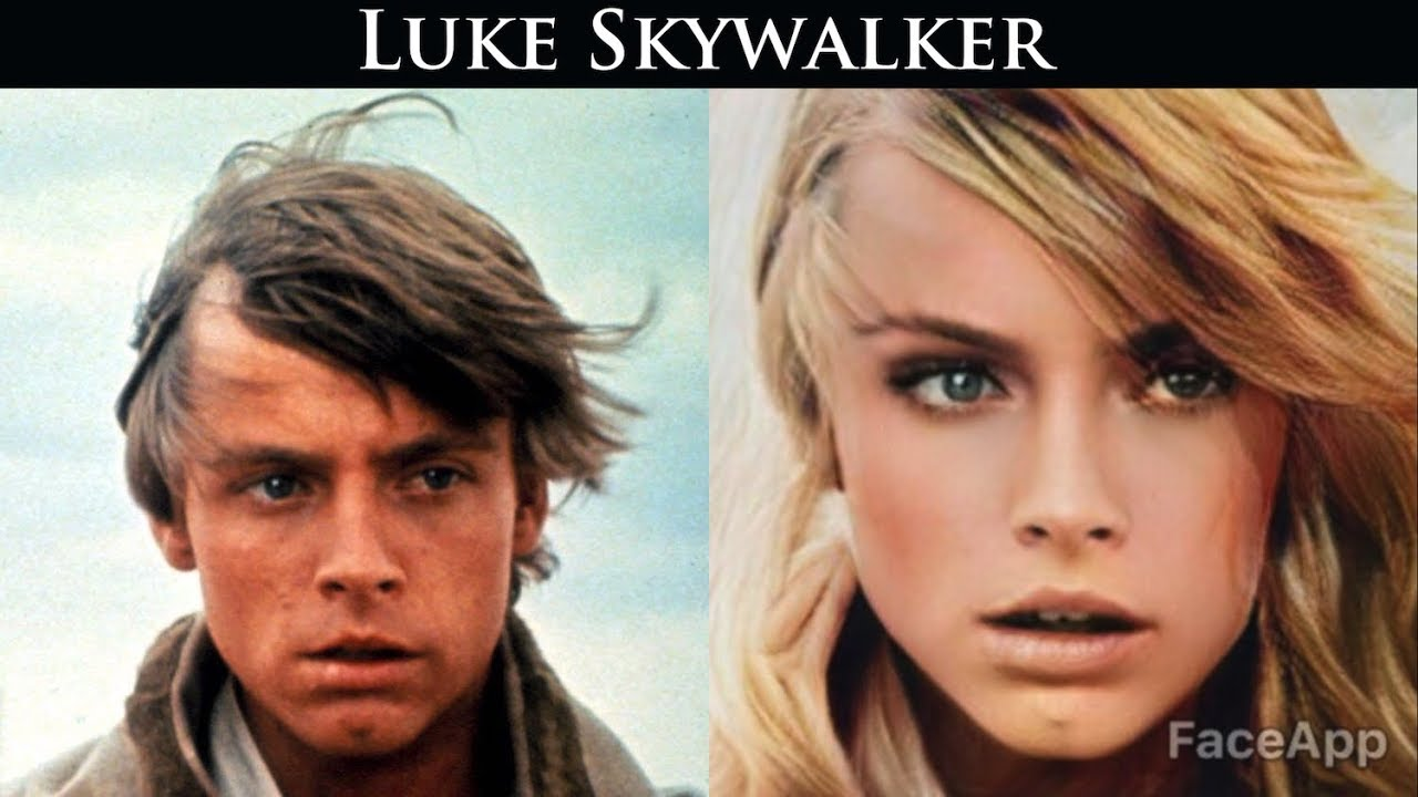 Star Wars - Main characters Gender Swap using FaceApp
