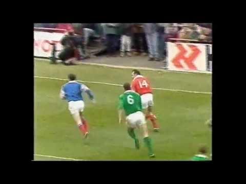Wales rugby 1996 season.  Leigh Davies, Ieuan Evans, Robert Howley.