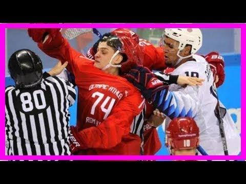 勁爆!冬奧男子冰球美國與俄羅斯幹起來了!