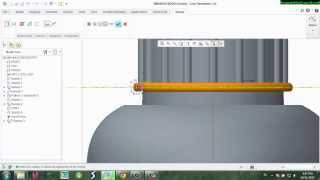 Vẽ bình đựng nước Creo Parametric