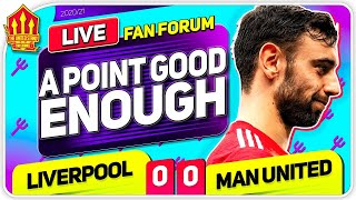 TITLE STILL ON! Liverpool 0-0 Manchester United | LIVE Fan Forum