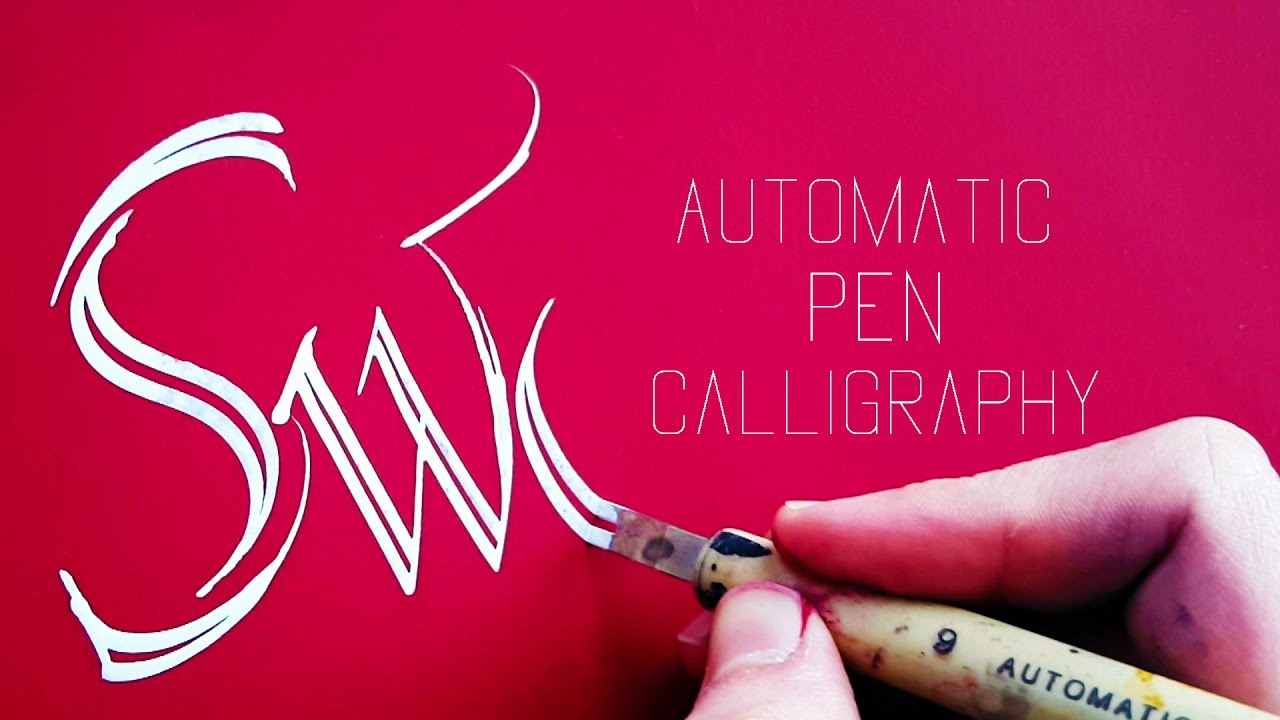 Automatic Pen Calligraphy 2 Youtube