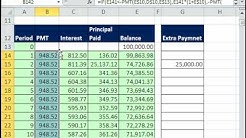 Excel Magic Trick 515: Amortization Table Pay Off Early & Trouble Shoot Formula Creation
