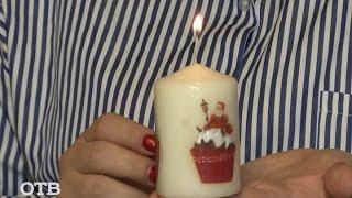 Как сделать декупаж свечи?