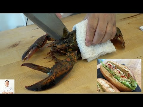 EXTREMELY GRAPHIC: Maine Lobster Roll (Japanese Inspired) | How To Make thumbnail