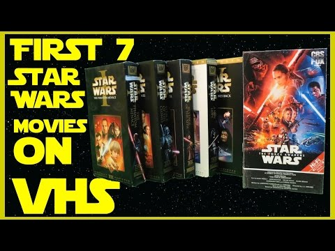 First 7 Star Wars Movies On Vhs Youtube