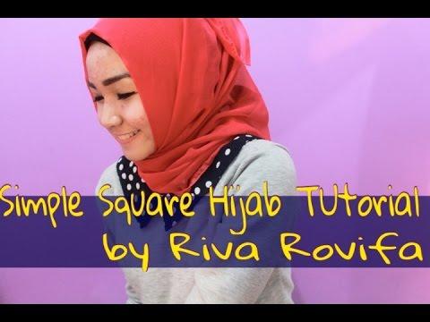 Daily Square Hijab Tutorial by Riva Rovifa