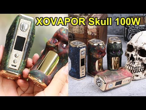 The best yet cheapest stable wood mod! | XOVAPOR Skull 100W Mod | ElegoMall.com
