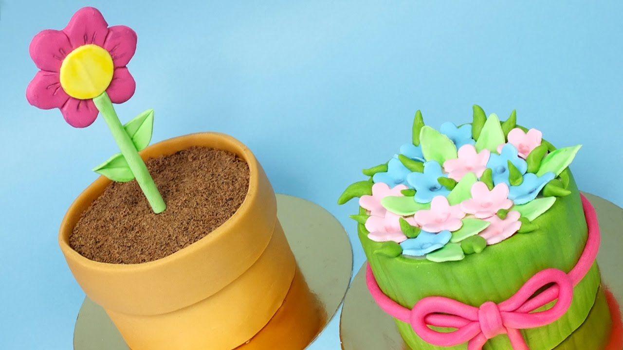 2 Mini Mother S Day Cakes Easy Cakes For Mother S Day Youtube