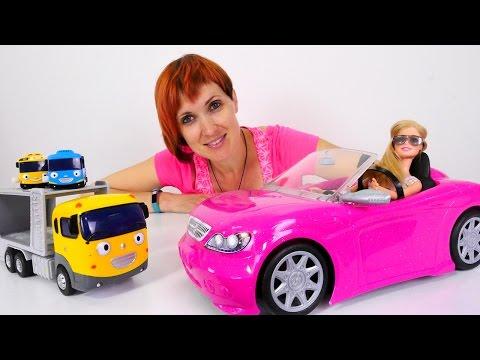 Машина КУКЛЫ БАРБИ потерялась. Машины игрушки Тайо, Монстр Хай.  5️⃣ Полный Порядок #КапукиКануки