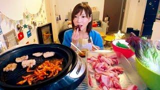 【MUKBANG】 Kinoshita Yuka's Social Eating LIVE [Korean Grilled Meat