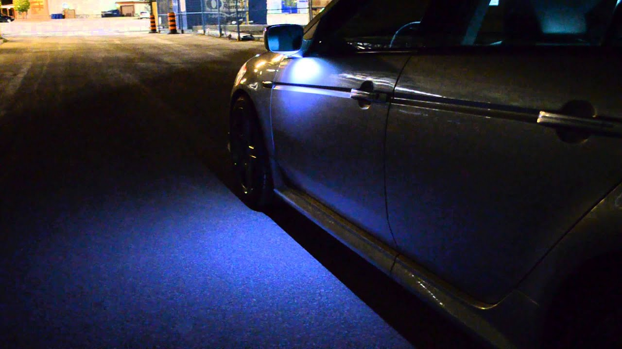 acura tl side mirror puddle lights youtube