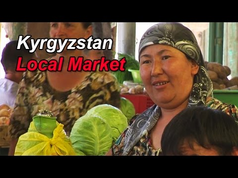 # 12 Zijderoute - Kyrgyzstan, visiting a local market near Bishkek
