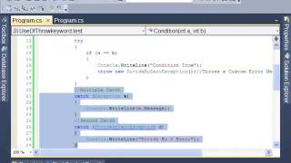 C#: How to Use Exception Handling - Tutorial 3