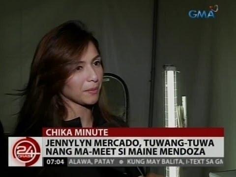 24 Oras: Jennylyn Mercado, tuwang-tuwa nang ma-meet si Maine Mendoza