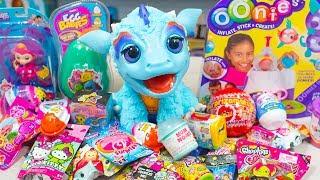 HUGE Furreal Friends Surprise Egg Oonies Fingerlings Blind Bags Toys for Girls Kinder Playtime