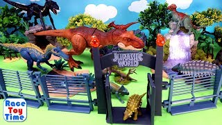 Jurassic World Dinosaur Park Toys For Kids - Fun Dinos