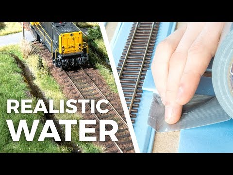 Realistic water made with tape and varnish! – model scenery tutorial #4