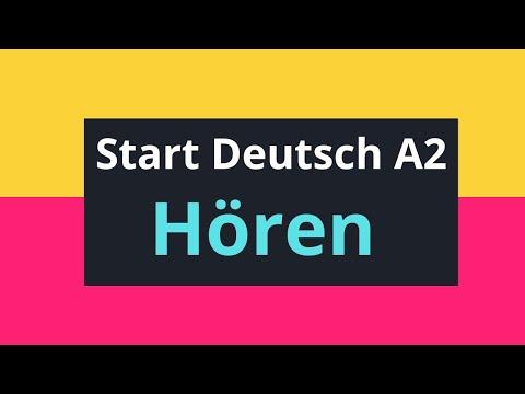 Zertifikat Deutsch A2 Start Deutsch A2 Modelltest 2 Youtube