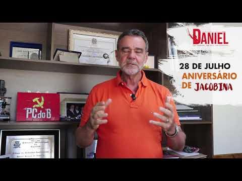 Vereador Júnior de Todos e Deputado Federal Daniel  parabenizando a cidade de Jacobina pelas 139 anos