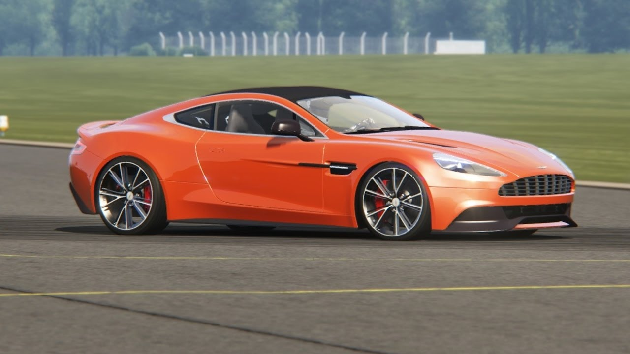 aston martin vanquish v12 top gear testing - youtube