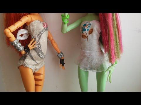 видео: Как сделать купальник для куклы Монстер Хай. Мастер класс.