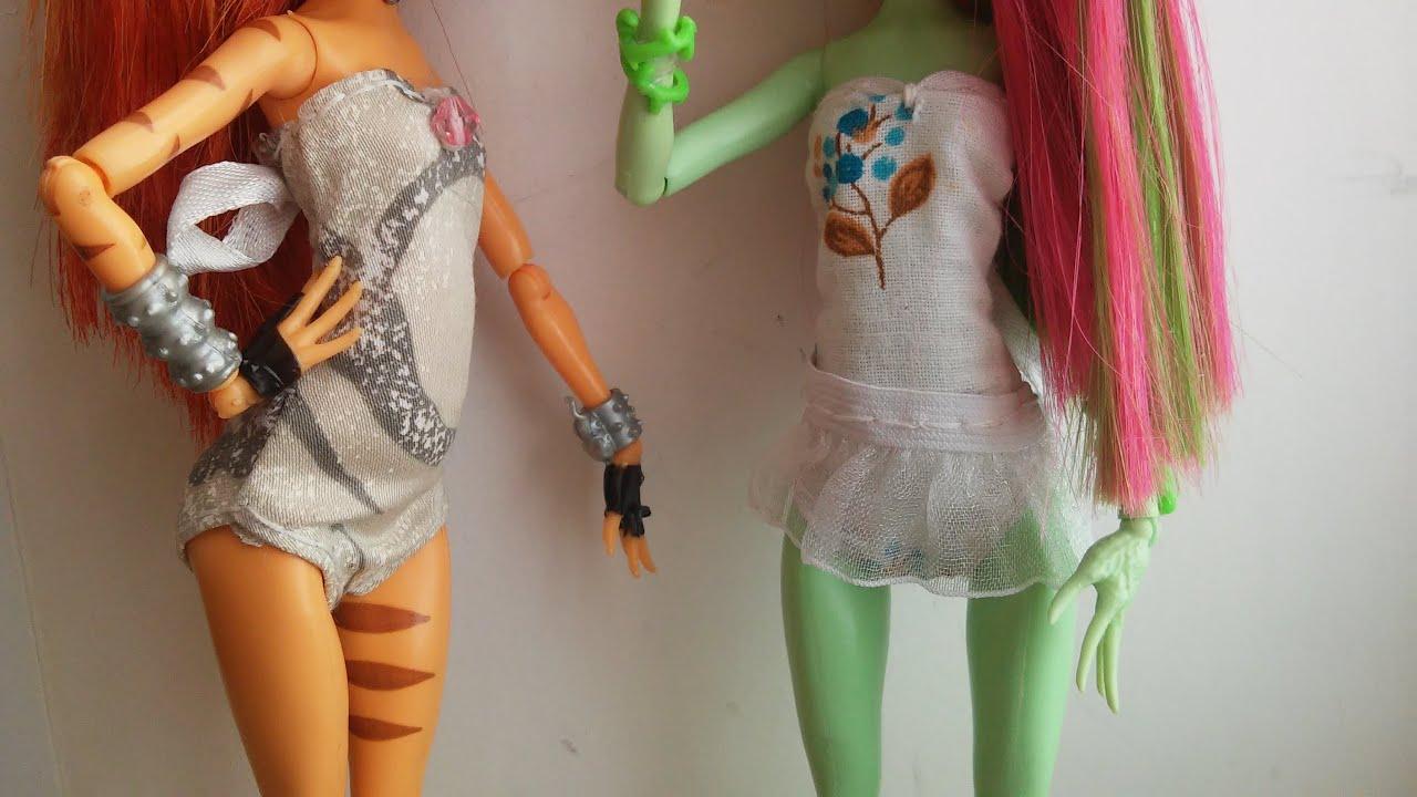 Как сделать из куклы барби куклы монстер хай