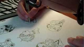 Drawing vid 1: Kokeshi inking (test!)