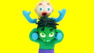 Superhero babies Funny Play Doh Stop Motion video for children