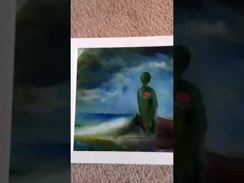 Reverse glass fingerpainting
