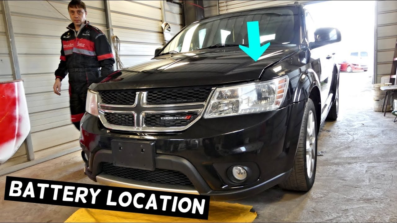 where is the battery located on dodge journey fiat freemont youtube. Black Bedroom Furniture Sets. Home Design Ideas