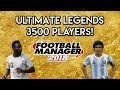 Football Manager 2018 Experiment: 3,500 Legends Database! - FM18 Experiment