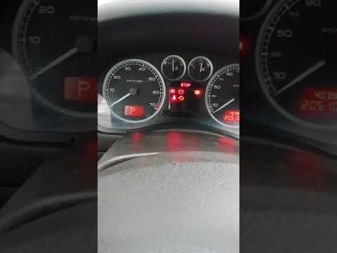 Пежо 307 стает в аварийный режим.