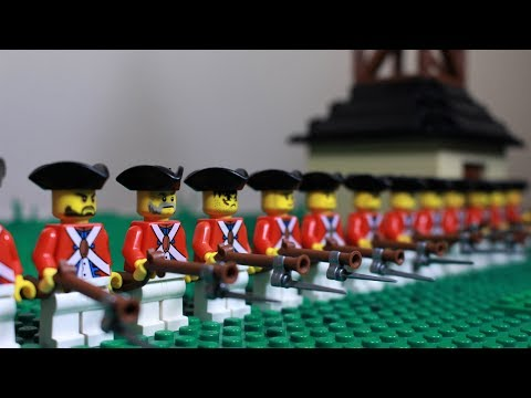 Lego Battle Of Lexington American Revolution - Stop Motion
