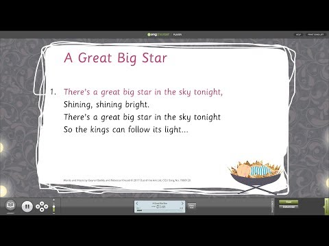 A Great Big Star [A King Is Born] - Words on Screen™ v2 Sample