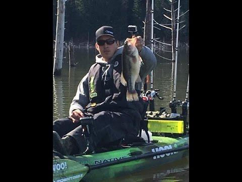 Galesville Reservoir, Kayak Bass Fishing Oregon